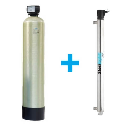 Zmäkčovač na tvrdosť vody a dusičnany + UV lampa 55 watt